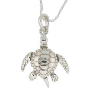 Sterling Silver Movable Sea Turtle Charm Jewelry