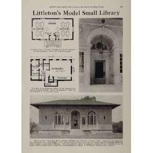 Library Building Floor Plan   Original Halftone Print