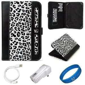 Dauphine Edition White Leopard Executive Leather Folio Case