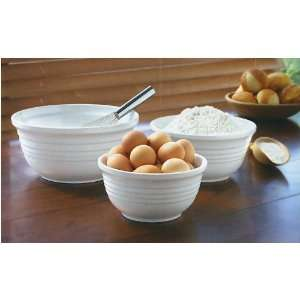 Over &Back 3 Piece Mixing Bowl Set White