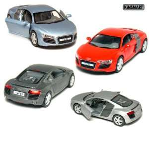 Set of 4 5 Die cast Metal Audi R8 Sport Coupe 136 Scale