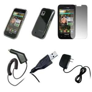 Clear Snap On Cover Case + Screen Protector + Car Charger (CLA) + Home