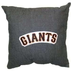 SAN FRANCISCO GIANTS Denim 18 Square Pillow