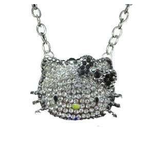 HUGE Hello Kitty Black Crystal Necklace By Jersey Bling