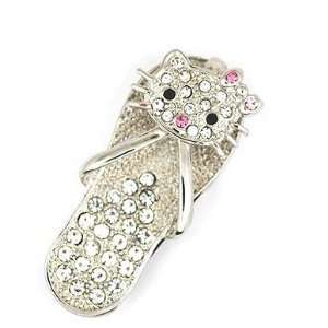 New Style 8GB Small Crystal Hello Kitty Slipper Style USB
