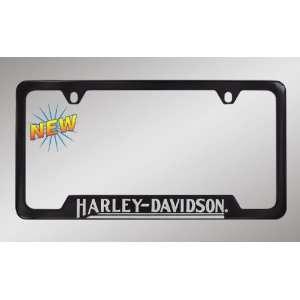 Harley Davidson Car Truck SUV License Plate Frame Black Metal   Script