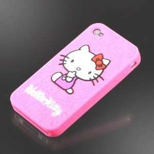Hello Kitty Iphone 4 Pink Classic Kitty Embossed Thick Silicone Full