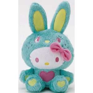Hello Kitty Dressed As Easter Bunny Green Plush Toys & Games