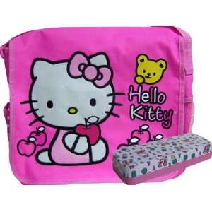Hello Kitty Messenger Bag Pink & Tin Pencil Case Toys & Games