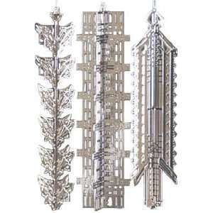 Wright Architect Silver Christmas Ornament Set #2