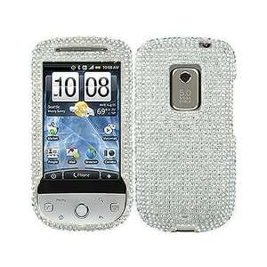 Bling Rhinestone Diamond White Clear Crystal Faceplate Hard Skin Case
