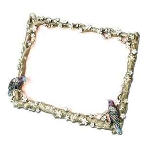 Swarovski Crystal Pave Love Bird Jeweled Picture Frame GAP376MB