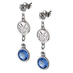New York Knicks Earrings NBA Logo w/ Team Colors
