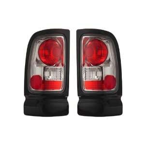 01 Dodge Ram Chrome Taillights + LED 3RD Brake Light Combo Automotive