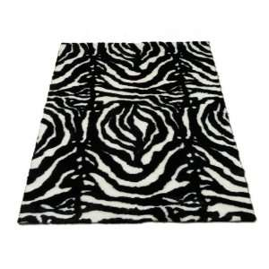 Zebra Black Spine  Zebra Collection  Faux Fur Rug  5