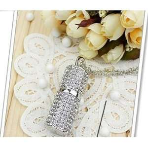 High Quality 8gb Crystal Lipstick Case Jewelry USB Flash Memory Drive
