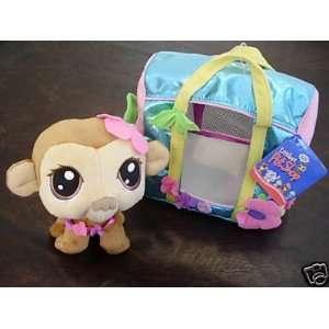 Littlest Pet Shop Plush Monkey Bobble Head with Carrying