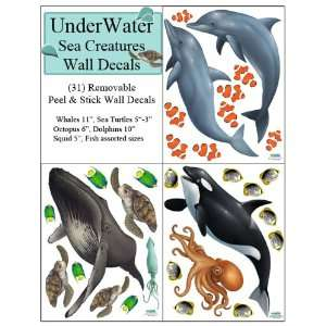 Wall Decals (31) Peel & Stick Ocean Wall Stickers for Kids Room Walls