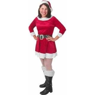 Mrs. Santa Claus Perky Christmas Pixie Elf in Corduroy