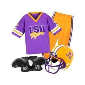 LSU Tigers Youth NCAA Team Helmet and Uniform Set  Sports