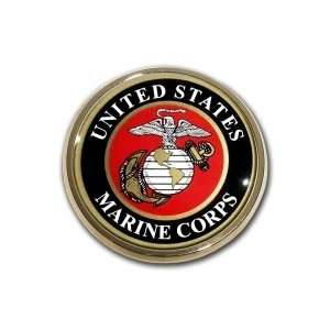United States US Marine Corps USMC EGA Seal Gold Plated Premium Metal