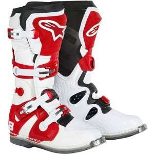 Tech 8 Mens Motocross Motorcycle Boots   Red / Size 12 Automotive