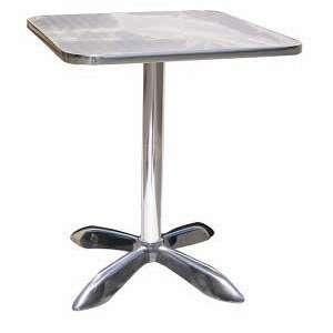Square Aluminum Outdoor Folding Restaurant Table Patio, Lawn & Garden