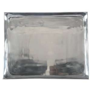 Rectangle Polished Aluminum Metal Serving Tray Home & Kitchen