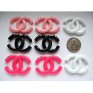 8 Large Pieces Mix Resin Cabochon Flat Back X Letter