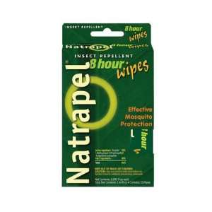 ADVENTURE MEDICAL KITS Natrapel Wipes, 8 Pack Patio, Lawn