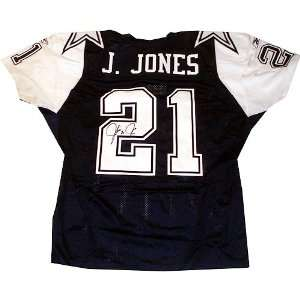 Julius Jones Signed Uniform   Navy Blue Alternate Pro