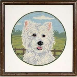 West Highland Terrier   Needlepoint Kit Arts, Crafts & Sewing