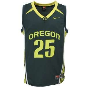 Nike Oregon Ducks #25 Green Replica Basketball Jersey