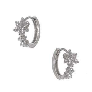 Mei Silver Plated Crystal Pierced Earrings Jewelry