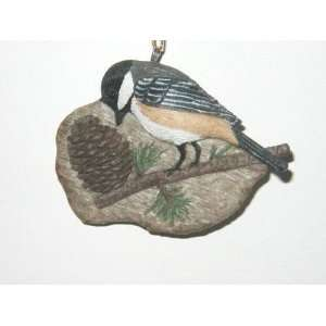 Chickadee Pine Cone Christmas Tree Ornament