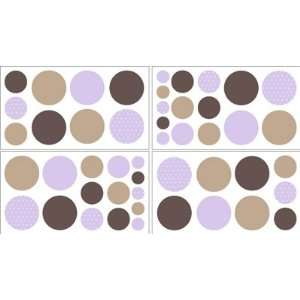 Baby and Childrens Polka Dot Wall Decal Stickers   Set of 4 Sheets