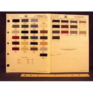 ), & Econoline Van Paint Colors Chip Page Ford Motor Company Books