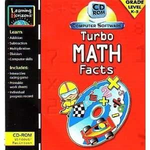 Turbo Math Facts for PC/Windows or MAC Software