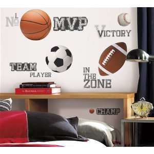 All Star Sports Sayings Wall Decals in RoomMates