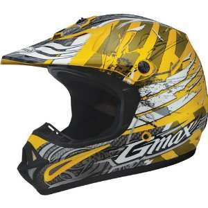 GMAX GM46X 1 Shredder Youth Dirt Bike Motorcycle Helmet   Yellow/White