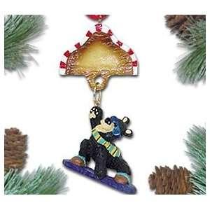 Personalized Snowboarding Bear Christmas Ornament   Sazham