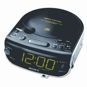 Sony® AM/FM/MP3/CD Clock Radio RADIO,CD,CLOCK,BK (Pack of