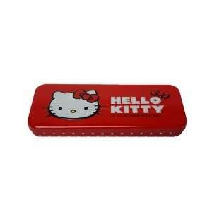 Red Hello Kitty Metal Tin Pencil/Pen Holder Box