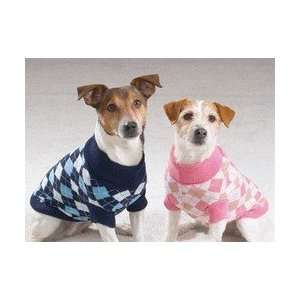 Argyle Turtleneck Dog Sweaters, BLUE, X SMALL Patio, Lawn & Garden