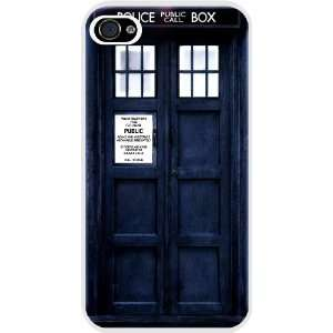 Rikki KnightTM Tardis Phone Booth White Hard Case Cover