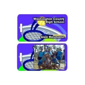 Personalized Tennis Bag Tags   Tennis Luggage Tags At