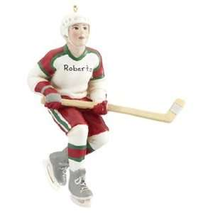Personalized Hockey Player Christmas Ornament