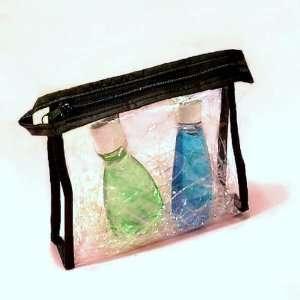 Clear Soft Vinyl Zipper Travel Makeup Cosmetics Bag Case Beauty