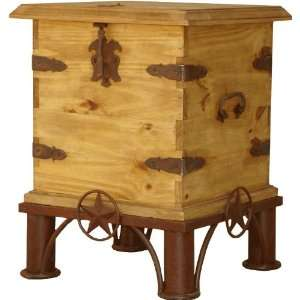 Laredo End Table w/ Stars Home & Kitchen