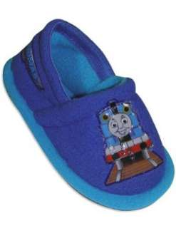 the Train   Toddler Boys Thomas Slippers, Royal, Turquoise Shoes